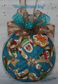 Quilted Ornaments Handmade Quilt Ball Ornaments by unclebuyme, $18.00