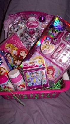 Disney Princess 9 Piece Gift Bucket Basket Easter Basket Birthday Basket