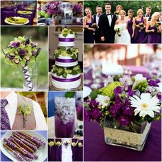 "#Blog: ""Make Your Wedding Pop with a Purple and Lime Green Theme""  #inspirationboard"