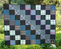 Making the most of the second half. Picnic Blanket, Outdoor Blanket, Plaid Quilt, Quilting Projects, Quilting Ideas, Quilt Blocks, Quilt Patterns, Scrap, Sewing