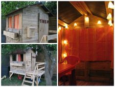 25 Ideas to Recycle Pallets in Kids Pallet Playhouses, Huts or Cabins | 1001 Gardens