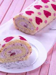 #Valentine's Day #heart Swiss #cake roll.