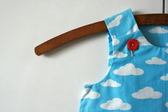 #Flying Through #Happy #Clouds - #Baby #Dress - Size #0-#3 #Months #handmade #thecraftstar $18.00