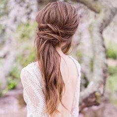 Halbhoch Halb unten Haar für Hochzeit Frisuren