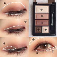 Chocolat Sweet Eyes Soft Mat / Rimmel / Powder … – Make Up Korean Makeup Tips, Asian Eye Makeup, Blue Eye Makeup, Asian Makeup Tutorials, Make Up Kits, Eyeliner Make-up, Rimmel, Makeup Inspo, Beauty Makeup