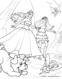 Tori Keira Riff And The Fairies Barbie Printable Print Out Color This Decorate Your Room