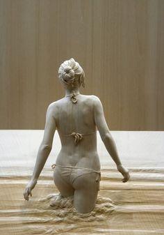 Istantanee di legno: le sculture fotografiche di Demetz