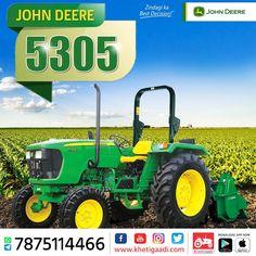 John Deere 5305 ✔️HP: 55HP ✔️No. of cylinder: 3 Cylinder ✔️Gear Box Type: 8 Forward +4 Reverse पूरी जानकारी मिलेगी यहाँ ➡️ #KhetiGaadi #JohnDeere5305 #BuyTractor #TractorPrice