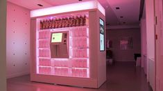 """This vending machine at the Mondrian susbtitutes as the hotel's gift shop. But instead of selling souveniers, it sells a variety of hand picked luxe items by Kim Walker, the hotel group's creative director.  """"The unique products range from 24-karat gold handcuffs from Kiki de Montparnasse, luxury cars for rent (a Rolls Royce Silver Shadow or 2000 Bentley Azure convertible), Fred Flare heart sunglasses, a 14-karat gold necklace by Kiel Mead, and Atari classics for Playstation."""" – Luxuo"""
