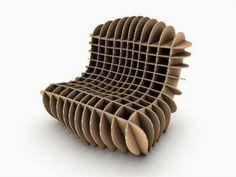 Uau.... MAIS QUE PAPELÃO!!! David Graas - Flatpack Furniture Collection