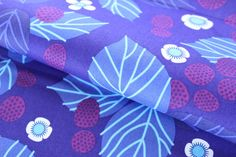 Raspberry Bramble in Purple - Midnight Meadow Colorway - Lovely Hunt by Lizzy House for Andover Fabric