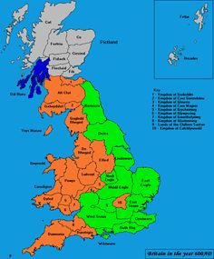 The Golden Age of Norðhymbralond Map Of Britain, Roman Britain, Great Britain, Uk History, British History, Saxon Chronicles, Anglo Saxon Chronicle, Anglo Saxon Kingdoms, J Sound