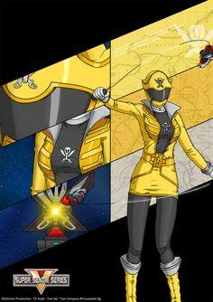 Gokai Yellow by Yuuyatails Power Rangers Series, Mighty Power Rangers, Go Go Power Rangers, Desenho Do Power Rangers, Power Rangers Cosplay, Power Rangers Megaforce, Pawer Rangers, Kamen Rider Zi O, Arte Cyberpunk