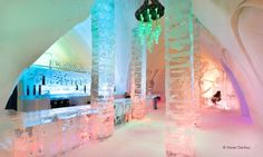 Hôtel de Glace - Quebec City, Quebec : 1-Night Stay for Two with Sleeping Bags, Breakfast, Two Drinks, and Hot-Tub and Sauna Access at Hôtel de Glace in Quebec