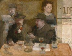 Victor Pasmore (British 1908–98), Parisian Café, 1936–37. oil on canvas, 71.2 x 91.6 cm. manchester city galleries