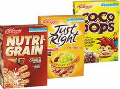 Kellogg's Nutri-Grain 805g, Coco Pops 650g, Froot Loops 500g, Just Right 790g or LCMs Value Pack 330g