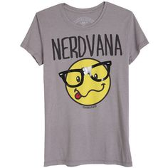 Nerdvana Tee ($9.99) ❤ liked on Polyvore featuring tops, t-shirts, shirts, blusas, graphic tees, purple tee, graphic t shirts, purple top, graphic design tees and graphic design t shirts