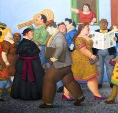 Fernando Botero Master Painter and Sculptor - Manhattan Arts Diego Rivera, Frida Diego, Walt Whitman, Artwork Images, Arte Pop, Land Art, Beautiful Paintings, Signature Style, Figure Painting
