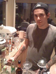why yes john, I'd love for you to mix me a drink! Is that your own brand of hat you're wearing?