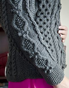 Ravelry: Ruth pattern by Donna Druchunas Free Aran Knitting Patterns, Cable Knitting, Knitting Designs, Free Knitting, Crochet Patterns, Knitting Magazine, Knitted Coat, Coat Patterns, Knit Crochet