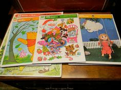 Vintage 1970s Tray Puzzles including Winnie the Pooh and More FREE SHIPPING