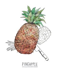 labluevague:  i like pineapple by raquelgonz on Flickr.