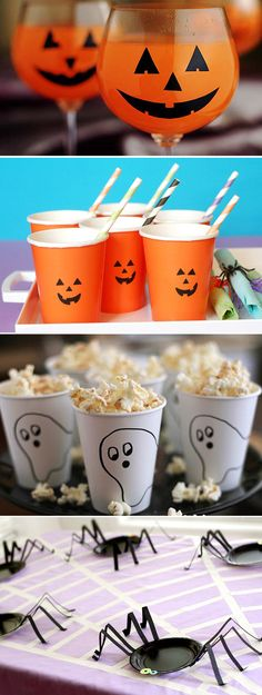 The Best Ideas are the Simplest ones! Halloween 2018, Deco Haloween, Dulceros Halloween, Moldes Halloween, Manualidades Halloween, Fairy Halloween Costumes, Halloween Birthday, Halloween Table Decorations, Halloween Party Decor