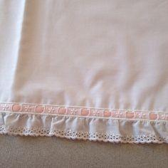 Lençóis de algodão com aplicação de bordado inglês