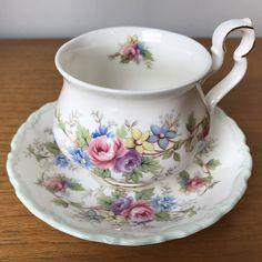 "Vintage Royal Albert ""Colleen"" Tea Cup and Saucer, Floral Teacup and Saucer Bone China"