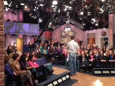 """Rach's """"Hype Man,"""" getting the audience excited for Rach to come out!"""