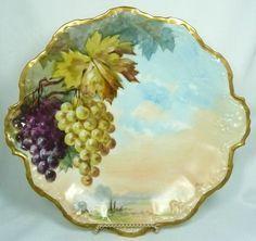 Antique Klingenberg Dwenger Limoges Hand Painted Plate w/ Blackberries N/R | Paint plates China china and Dinnerware & MINT! Antique Klingenberg Dwenger Limoges Hand Painted Plate w ...