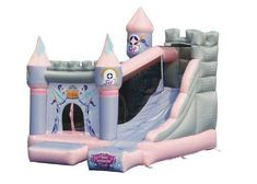 The Princess Enchanted Castle bounce house and slide is perfect for any princess adventure. This bounce house has classic princess graphics and a front curtain opening which makes it feel like her very Castle Bounce House, Bouncy House, Bouncy Castle, Inflatable Bounce House, Inflatable Slide, Inflatable Bouncers, Bounce House With Slide, Enchanted Castle, Enchanted Princess
