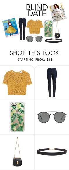 """""""Yellow Vibes👚👠"""" by hoeforalex ❤ liked on Polyvore featuring Miguelina, Barbour, Casetify, Ray-Ban, Chloé and Humble Chic"""