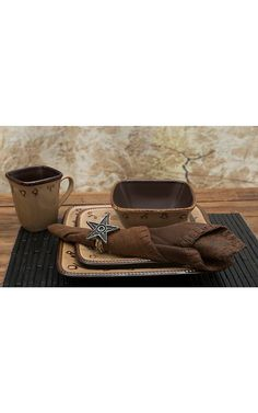 M Western Products Rustic Ranch 4-Piece Bowl Set