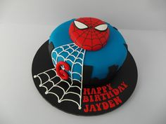 Spiderman Cake | www.birthdaycakeshop.co.uk/blog