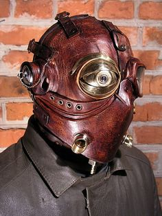 Leather and Copper Steampunk Mask