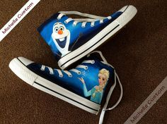 Custom Converse Blue Converse Hand Painted Shoes, High Top Converse Shoes,Custom Converse,Custom Shoes,Birthday Gifts,Kids Converse Shoes on Etsy, $75.00