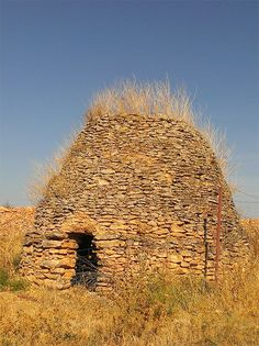 Dry stacked stone domes are an ancient type of natural building.