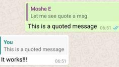 WhatsApp permetterà di citare vecchi messaggi
