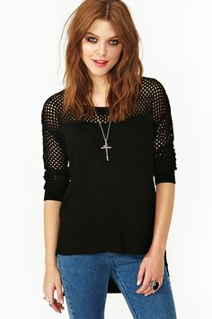 Meshed Up Knit in Black