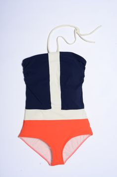 Touche Collection E-10-41 One-Piece in Color Block | $152