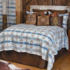 Western Furniture, Furniture Decor, Southwest Bedroom, Western Bedding Sets, Quilt Sets Queen, Black Forest Decor, Sierra Vista, How To Clean Pillows, Leather Pillow