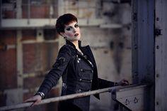 Punk Rave Gothic Y-306 Military Jacket schwarz anthrazit grau mit Nieten und Ketten S (M) Punk Rave, Blazer, Gothic, Nike, Military Jacket, Jackets, Style, Fashion, Fashion Women