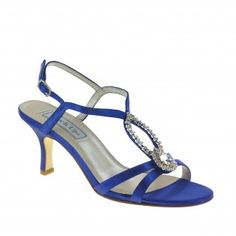 MINDY-438 Women Rhinestones High Heels - Blue