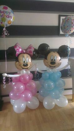 Minnie and Mickey www.bellissimoballoons.co.uk