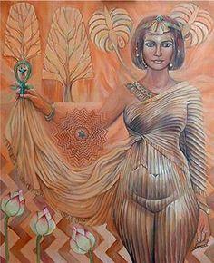 """""""Asherah """"– Tree Goddess of Hebrew and Arab culture.) """"Fire woman of the 'Burning Bush'"""", the Tree of Life. """"URA"""" – the inner 'Awakened fire serpent'. Ancient Goddesses, Egyptian Mythology, Gods And Goddesses, Sacred Feminine, Divine Feminine, Turm Von Babylon, Art Afro, Isis Goddess, Earth Goddess"""