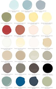 Pottery Barn colors