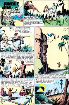 "Page from ""Jungle Jim."" It was published in 1935 by Alex Raymond. It was illustrated in pencil and ink."