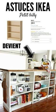 In this article, you'll discover 23 ways to customize some pro . - Ikea DIY - The best IKEA hacks all in one place Ikea Hacks, Diy Hacks, Billy Ikea, Ikea Closet Organizer, Closet Organization, Organizing, Ikea Bedroom, Home Staging, Interior Design Living Room