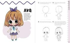 Chibi Boy, Cute Chibi, Chibi Hair, Anime School Girl, Chibi Characters, Anime Drawings Sketches, Drawing Practice, Step By Step Drawing, Doodle Art
